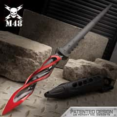 M48 Cardinal Sin Cyclone Spear With Vortec Sheath - Cast Stainless Steel Blade, Reinforced Nylon Handle - Length 48 7/8""