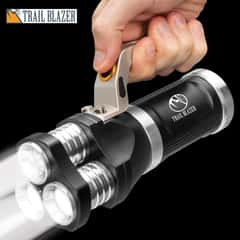 Trailblazer Flashlight With Super Bright White Lights - Weather-Resistant Aluminum Body, 800 Lumens - Length 6 1/2""