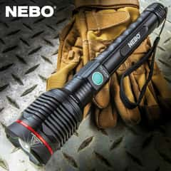 Nebo Redline Blast Flashlight - 3200 Lumens, Rechargeable, Water-Resistant, Four Lighting Modes, Power Bank