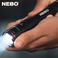 "Redline X Rechargeable Flashlight - Aircraft Grade Aluminum Body, Waterproof - Closed Length 5 4/5"", Extended Length 6 1/4"""