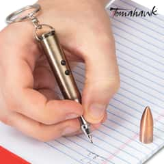 Tomahawk Rifle Round LED Light/Pen/Laser Pointer - Realistic Looking Bullet, Aluminum Construction, Key Chain - Length 3 1/4""