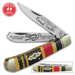 Kissing Crane Coral Snake Trapper Pocket Knife
