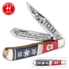 Kissing Crane Texas Independence Trapper Pocket Knife