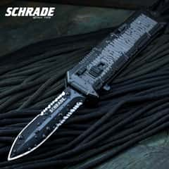 Schrade Viper OTF Assisted Opening Pocket Knife Serrated Spear Point