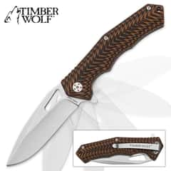 Timber Wolf Pyroclast Assisted Opening Pocket Knife - G10 Handle / Stonewashed Blade