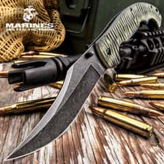 USMC Fallout Assisted Opening Tactical Pocket Knife - 3Cr13 Steel Blade, Grippy G10 Handle, Assisted Opening, Pocket Clip