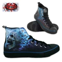 Flaming Spine Men's High-Tops - Lace Up