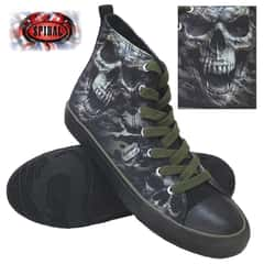 Camo-Skull Men's High-Tops - Lace-Up