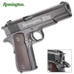 "Remington 1911 RAC Air Pistol - CO2-Powered, Full-Metal Construction, Blowback Action, 320 FPS, 18-Round Magazine - Dimensions 8""x 5 1/2"""