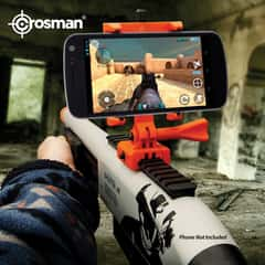 Crosman Ghost Radical Shotgun Airsoft Shooter AR - Spring Powered, Augmented Reality Capable, 17-Round Magazine