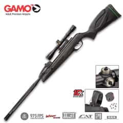 Gamo Swarm Maxxim .22 Caliber Air Rifle With Scope, 975 FPS, 10-Shot Break-Barrel, Polymer Jacketed Steel Barrel, Synthetic Stock