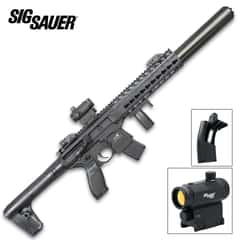 Sig Air MCX Black Air Rifle With Micro Red Dot Sight - Synthetic Stock, 30-Round Pellet Magazine, 700 FPS - Length 34 3/4""