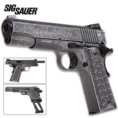 Sig Sauer 1911 We The People BB Pistol - Metal Construction, Custom Patriotic Grips, 340 FPS, 17-Round Magazine - Length 8 1/2""