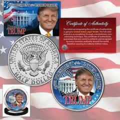 President-Elect Donald Trump Collectible Colorized JFK Half Dollar