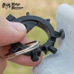 Ridge Runner 12-In-1 Tool Octopus Keychain - Tough Metal Construction, Removable Phillips Bit - Diameter 1 1/2""