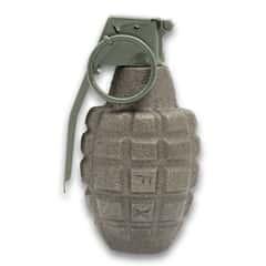 Inert Pineapple Grenade Replica  Paperweight