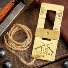 "Trailblazer 19TH Century Range Finder - Solid Brass Construction, Exact Length Twine String - Dimensions 3""x 1 1/4"""