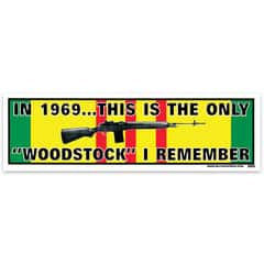 The Only Woodstock I Remember Bumper Sticker