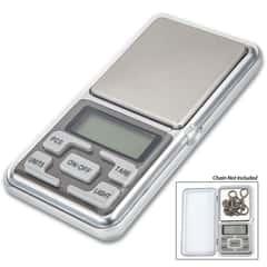 International Electronic Digital Pocket Scale - Five Units Of Measure, Automatic Calibration, Automatic Shut-Down, Flip-Open Lid