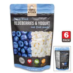 Simple Kitchen Blueberries And Yogurt - Six-Pack, All-Natural Ingredients, Four-Servings Per Pouch, 140 Calories Per Pouch