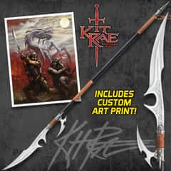 Kit Rae Ellexdrow War Spear With Art Print