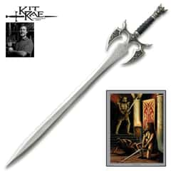 Kit Rae Kilgorin Sword Underworld Edition - 3Cr13 Stainless Steel Blade, Cast Metal Pommel And Guard, Leather Wrapped Handle - Length 36""