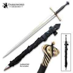 """Darksword Armory Sovereign Arming Sword And Scabbard - 5160 High Carbon Steel Blade, Battle-Ready - Length 41"""""""