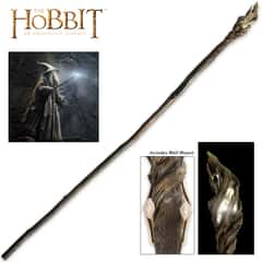 "The Hobbit Illuminated Staff of The Wizard Gandalf the Grey With Wall Mount - High Intensity LED Light - 73"" Length"