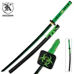 Undead Blood Splattered Edition Samurai Sword