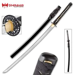 Shinwa Dark Knight Damascus Steel Katana