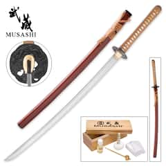 Musashi Hidden Dragon Samurai Sword - Hand-Forged
