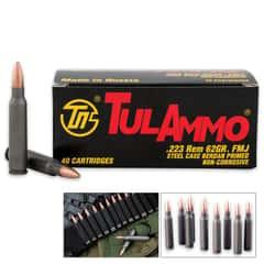 TulAmmo .223 REM 62-Grain Rifle Ammo