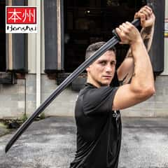 Honshu Practice Katana - One-Piece Polypropylene Construction, Textured Handle, Mimics Real Katana, For Training - Length 41""