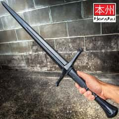 Honshu Practice Broadsword - Polypropylene Construction, Textured Handle, Mimics Real Broadsword, For Training - Length 43 1/2""