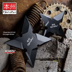 Honshu Sleek Black Throwing Star