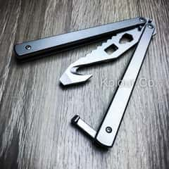 High Quality Practice BALISONG METAL BUTTERFLY Bottle Opener Tool Trainer Knife