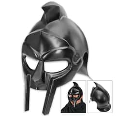 Legends In Steel Black Gladiator Warrior Helmet