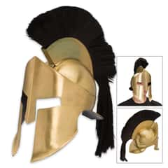 Ancient Greek / Spartan Crested Helmet and Facemask