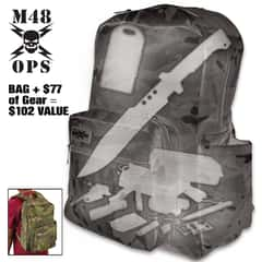Prepacked Bug-Out Bag - 100 Value, Survival Essentials, Spacious Camouflage Backpack, Incredible Deal
