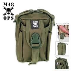 M48 Gear Tactical Belt Pouch OD Green
