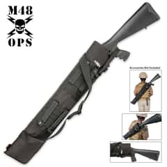 M48 OPS MOLLE Compatible Tactical Shotgun Scabbard - Black