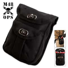 M48 OPS Canvas Two-Pocket Ammo and Accessory Pouch - Black