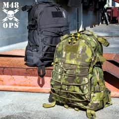 "M48 Mission Seven Backpack - 900D Oxford Material, PVC Lining, Padded Shoulder And Waist Straps, Compression Straps - Dimensions 20""x 16""x 8"""