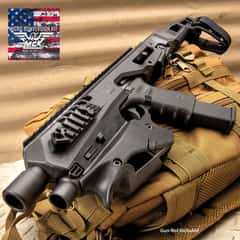 "Micro Roni Micro Conversion Glock Kit - Polymer Body, Aluminum Barrel Shroud, Extended Stabilizer, Picatinny Rails, Ambidextrous - Length 13 7/10"""