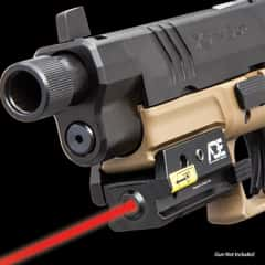 """Low Profile Compact Red Laser Pistol Sight - Weaver And Picatinny Mount, Aircraft Aluminum Construction, Shock-Proof - Length 2"""""""