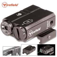 Firefield Charge AR Green Laser Sight - Windage And Elevation Adjustable, Aluminum Construction, Compatible With Picatinny/Weaver