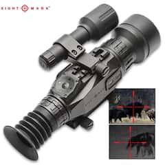 Sightmark Wraith HD 4-32x50 Digital Rifle Scope - Aluminum Construction, Water-Resistant, Picatinny Mount, Video Recording