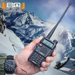 Dual Band Two-Way Radio - 128 Channels, Range 400-520 MHz, Lithium Ion Battery, Emergency Alarm, Voice Control, LCD Screen