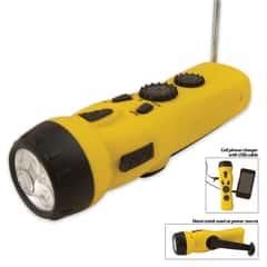 4-in-1 Dynamo Emergency Radio Flashlight