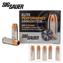 SIG Sauer Elite V-Crown .44 Smith & Wesson Special 200gr Jacketed Hollow Point (JHP) Ammunition - Box of 20